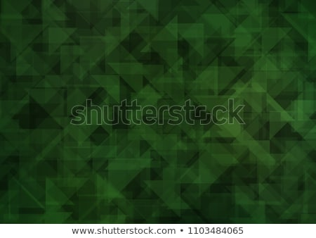 colorful dark green abstract geometric low poly style vector illustration graphic background stock photo © mcherevan