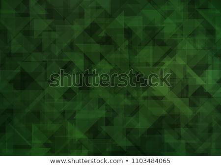 エメラルド · 緑 · 抽象的な · 低い · ポリゴン · スタイル - ストックフォト © mcherevan