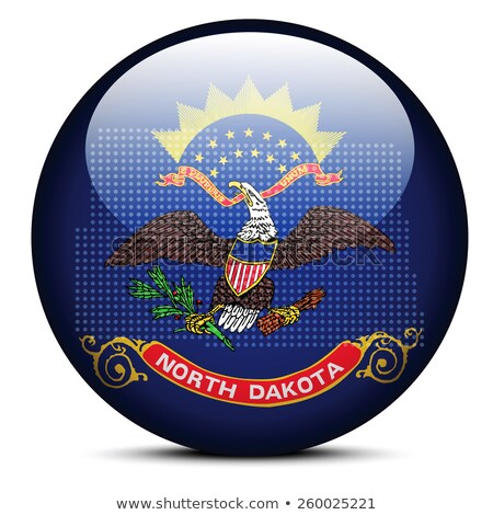 Map with Dot Pattern on flag button of USA North Dakota State Stock photo © Istanbul2009