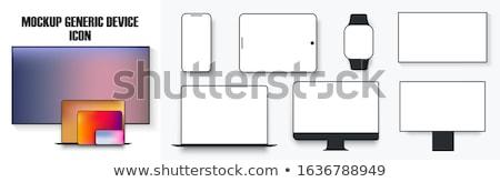Vektor modern elektronikus eszközök izolált fehér Stock fotó © dashadima