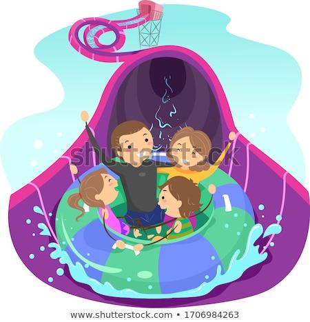 девушки иллюстрация улыбка детей бассейна Сток-фото © adrenalina