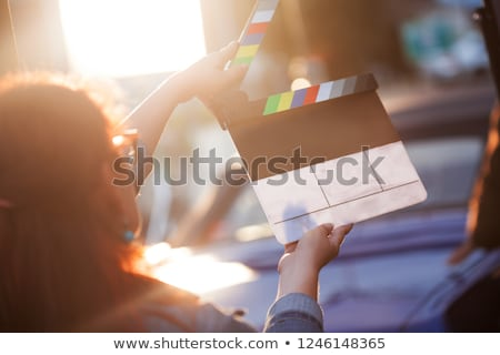 Cinema Film And Movie Blank Clapperboard Stock photo © NiroDesign