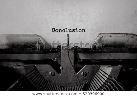 conclusions concept with word on folder stock photo © tashatuvango