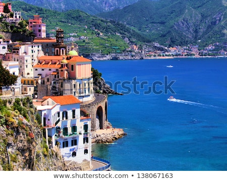 Picturesque beach in Atrani village, Amalfi Coast  Stock photo © amok