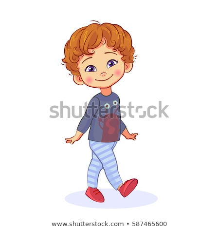 cheerful nice boy stock photo © acidgrey