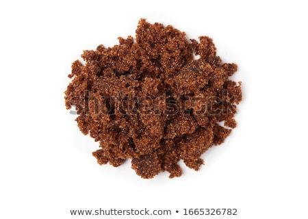 şeker karanlık kahverengi ahşap çanak sağlık Stok fotoğraf © grafvision