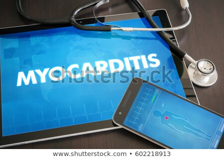 Stock photo: Myocarditis on the Display of Medical Tablet.