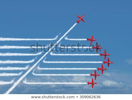Inovação independente individualidade grupo acrobático Foto stock © Lightsource
