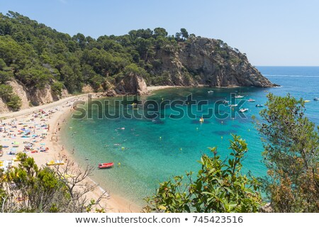 coves of Cala Llorell beach in Tossa de Mar, Spain Stock photo © nito