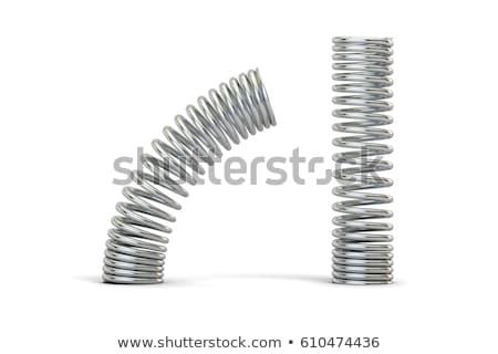 set of steel spring   isolated on white stock photo © ozaiachin