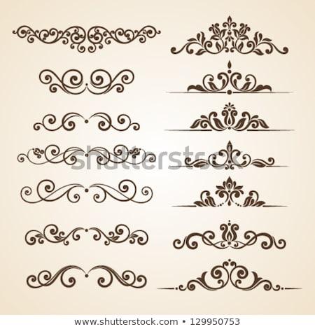 Set of ornamental vintage Floral elements Stock photo © balabolka