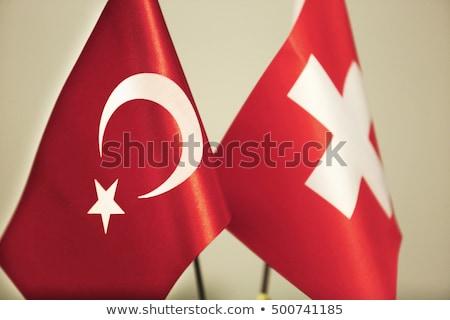 Turkey and Switzerland Flags Stock photo © Istanbul2009