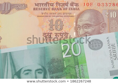 Close-up of Indian twenty rupee banknote Stock photo © imagedb