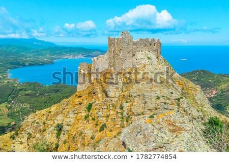 Vue forteresse Rock Toscane Italie vieux Photo stock © master1305