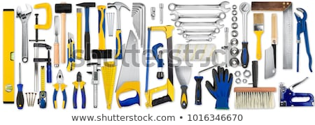 working tools   saw in a hand stock photo © michaklootwijk