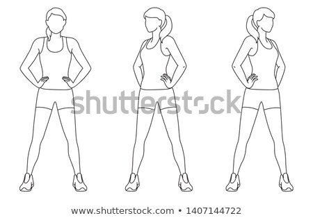 Pilates woman hip twist exercise workout at gym Stock photo © lunamarina