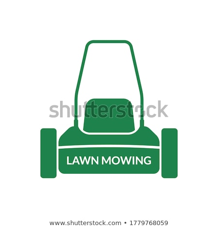 lawn mower front view isolated Stock photo © goce