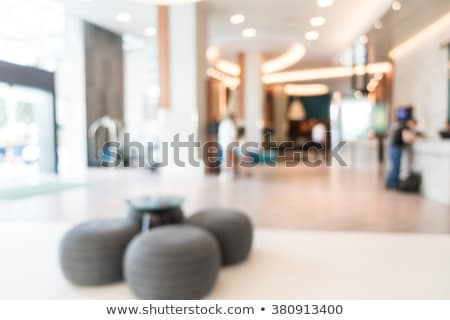 Blur hotel lobby abstract kantoor hout Stockfoto © vichie81