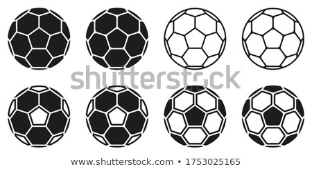Colorful background with a soccer ball. EPS 8 Stock photo © beholdereye