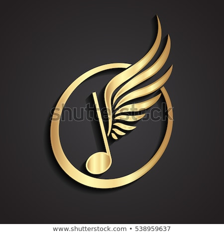 Music Notes Golden Vector Icon Button Stock photo © rizwanali3d