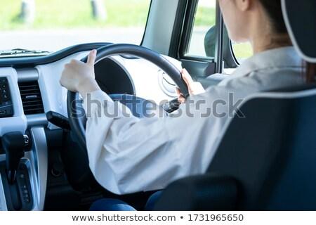 Seguro condução mulher carro volante estratégia Foto stock © stevanovicigor
