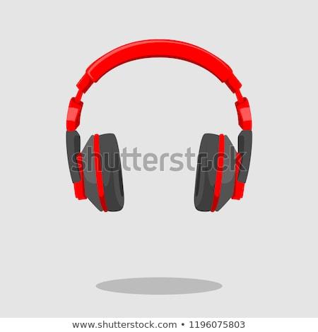 Сток-фото: голову · телефон · красный · вектора · икона · кнопки