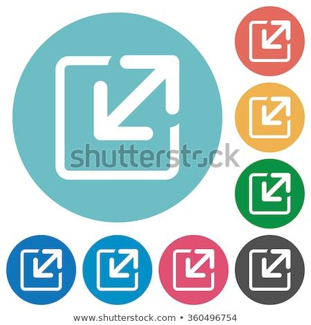 Zoom ki citromsárga vektor ikon terv Stock fotó © rizwanali3d