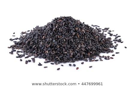Organique noir sésame isolé blanche Photo stock © ziprashantzi