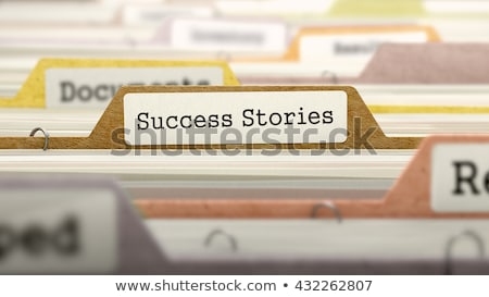Carpeta catálogo éxito primer plano vista Foto stock © tashatuvango