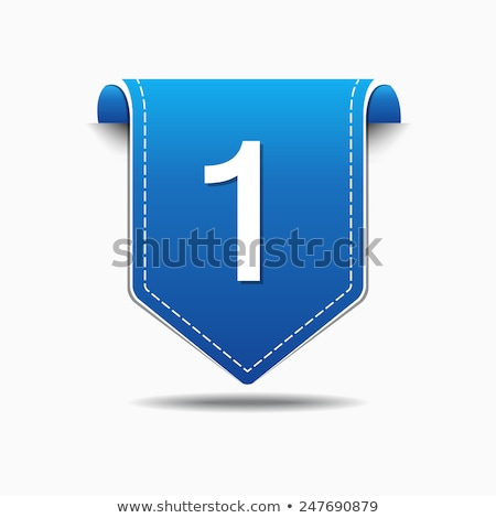 Número vetor azul ícone web botão Foto stock © rizwanali3d