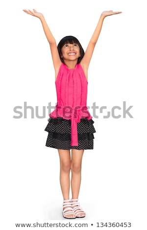 Little girl with hands up Stock photo © manaemedia