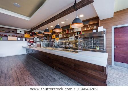 Yemek öğle yemeği karşı kamu catering restoran Stok fotoğraf © Paha_L