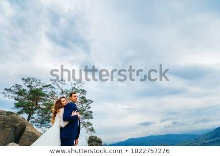 Braut · Himmel · Hochzeit · Gesicht · Mode · Schönheit - stock foto © Paha_L