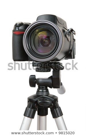 modern photo camera on tripod 2 stock photo © paha_l
