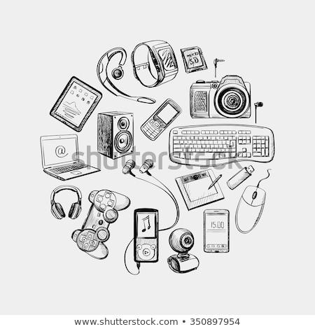 circular design of electronic gadget stock photo © netkov1