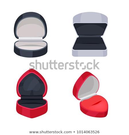 black gift open box heart shape stock photo © orensila