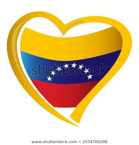 Venezuela szív zászló ikon szeretet szimbólum Stock fotó © netkov1