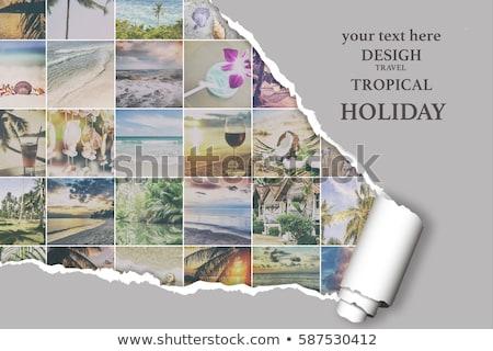 Seaside photo collage Stock photo © stevanovicigor