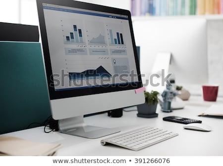 Perte graphique ordinateur illustration blanche affaires Photo stock © get4net