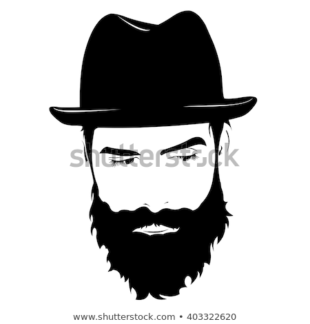 serious thoughtful bearded man in hat stock photo © dariazu