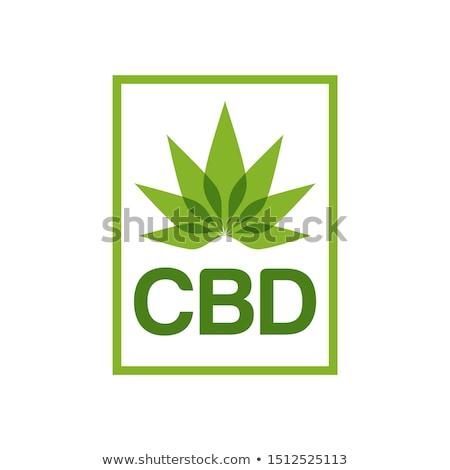 Groene hennep marihuana blad iconen textuur Stockfoto © Zuzuan
