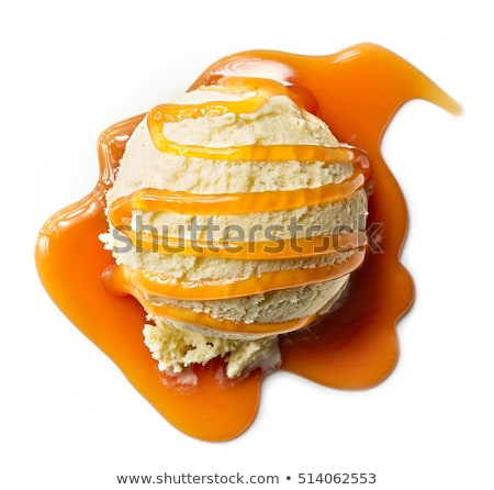 Ice cream with caramel sauce  Stock photo © Digifoodstock