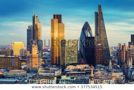 The Tower of London and the city district with Gherkin skyscraper, the UK.  Stock photo © photocreo