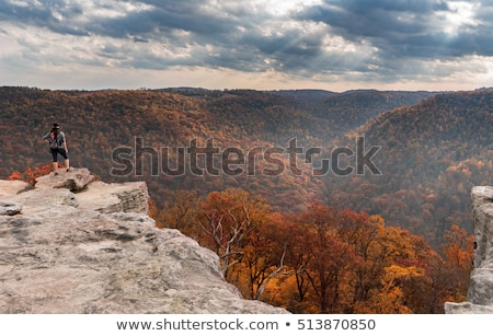 Hikers on Raven Rock in Coopers Rock State Forest WV Stock photo © backyardproductions