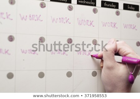 Photo stock: Travaux · calendrier · stress · horloges · engins