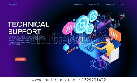 computador · técnico · serviço · isolado · 3D · imagem - foto stock © iserg