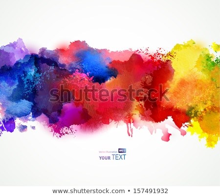 Vector grunge red paint brush strokes brochure. Stock photo © sdmix