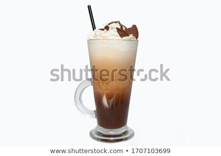 Verre froid café illustration blanche graphique Photo stock © bluering