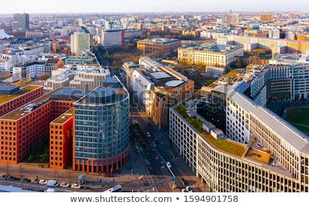 Neighborhood with gardens in Berlin Stock photo © elxeneize
