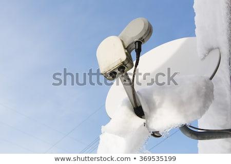 Szary satelitarnej ilustracja biały tle ziemi Zdjęcia stock © bluering
